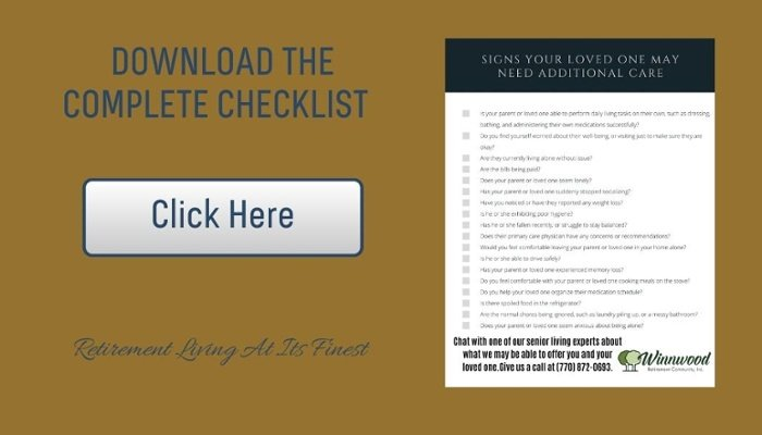 Signs of aging checklist